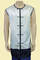 Round Collar Dual-color Kung Fu Majia/Vest