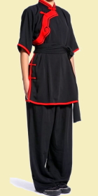 Women Inclined-lapel Ruyi Applique Kung Fu Suit (CM)