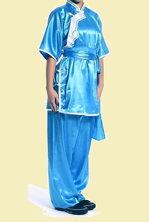 Inclined-lapel Ruyi Applique Kung Fu Suit (CM)