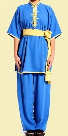 Mandarin Collar Short-sleeve Kung Fu Pullover Suit (CM)