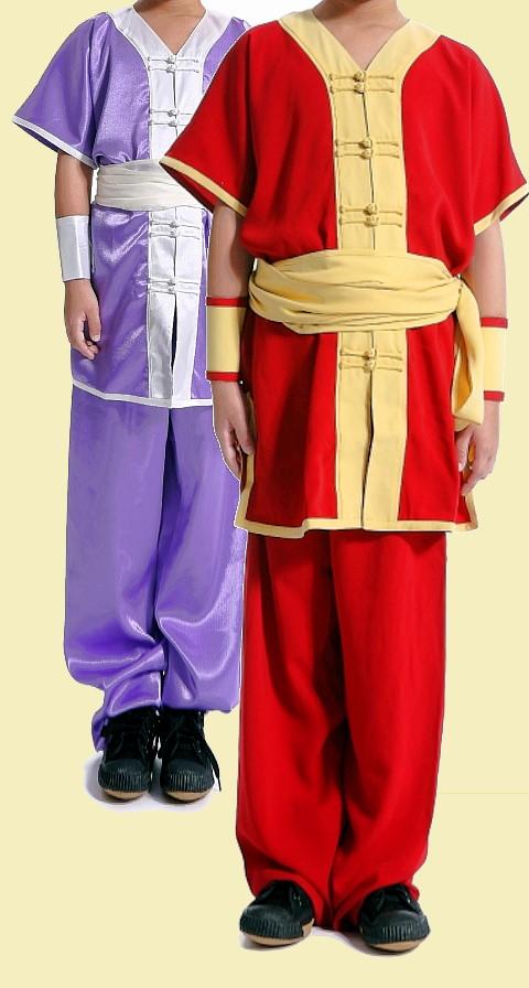 V-Collar Short-sleeve Kung Fu Suit (CM)