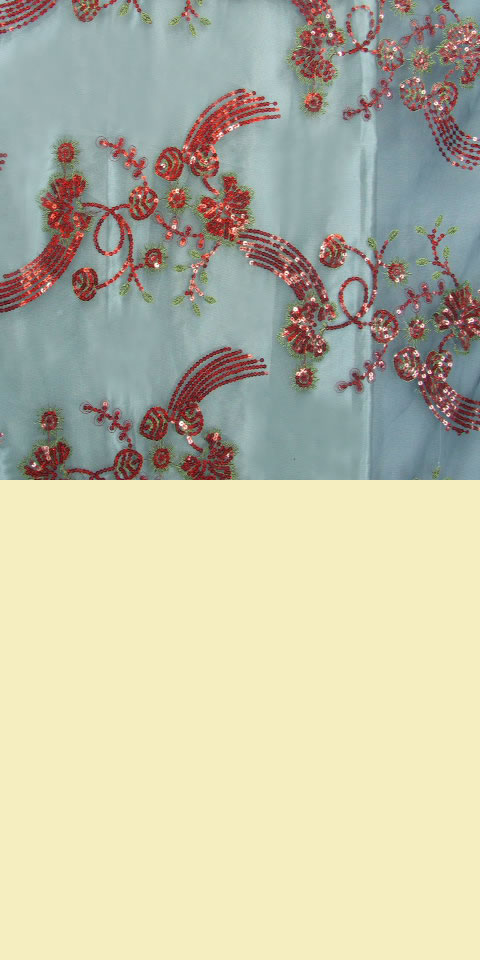 Fabric see through embroidery gauze eg ch a