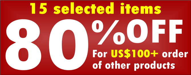 Click HERE for details of 80% OFF products