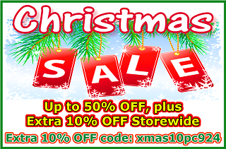 Xmas Sale, Up to 50% OFF, plus Extra 10% OFF Storewide, Extra 10% OFF code: xmas10pc924