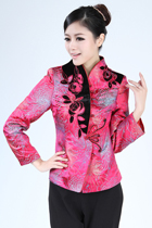 Mandarin Long-sleeve Brocade Jacket (Ready-Made)