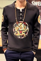 Bargain - Men's Long-sleeve Top with Dragon Embroidery (RM)