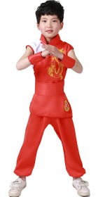 Bargain - Kid's Dragon Embroidery Kung Fu Uniform with Sash (RM)
