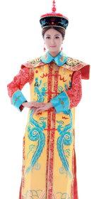 Qing Dynasty Empress Robe w/ Crown (RM)
