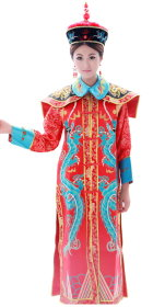 Qing Dynasty Empress Robe w/ Crown (RM)
