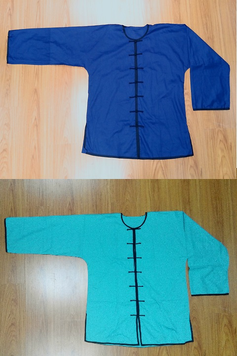 Bargain - Round Collar Open Cuffs Kung Fu Shirt