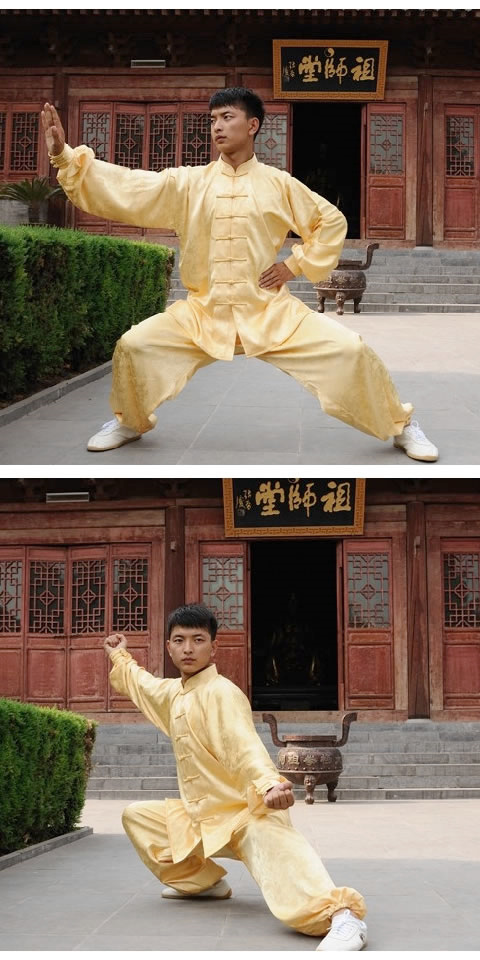 Bargain - Mandarin Collar Binding-cuff Jacquard Kung Fu Suit