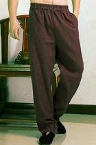 Bargain - Linen Mandarin Pants