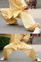 Bargain - Mandarin Elastic Ankle Jacquard Pants