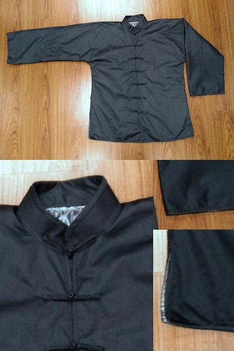Bargain -Long-sleeve Mandarin Batting Jacket