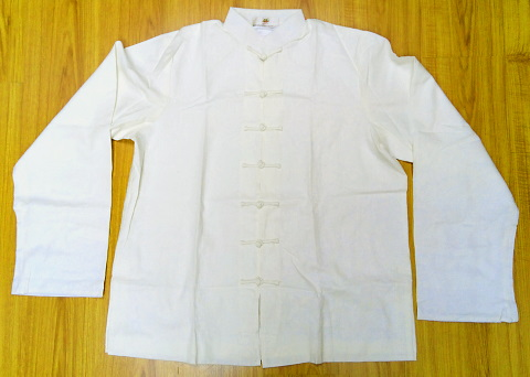 Bargain - Mandarin Shirt w/ White Folding Cuffs
