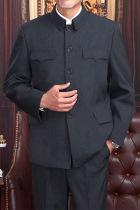 特價品-經典版中山裝夾克(黑色)