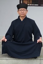 Bargain - Wudang Taoist Long Robe with Open Cuffs (Black)