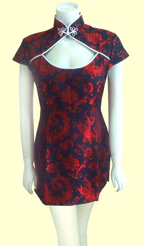 Bargain - Cup-sleeve Short-length Cheongsam