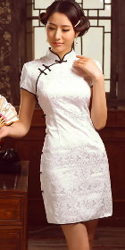 特價品-碗袖短身旗袍