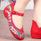 低跟鳳凰繡花鞋(紅色)