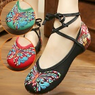 Low-Heel Butterfly Embroidery Shoes (Multi-color)