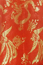 Fabric - Large Golden Dragon & Phoenix Brocade