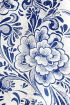 Fabric - Blue/White Jacquard