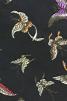 Fabric - Large Butterfly Brocade