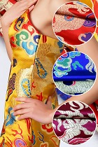 Fabric - Magnificent Large Dragon Brocade (Multicolor)