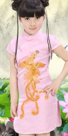Girl's Phoenix Embroidery Cheongsam Dress (RM)