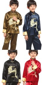 Boy's Dragon Embroidery Mandarin Suit (RM)
