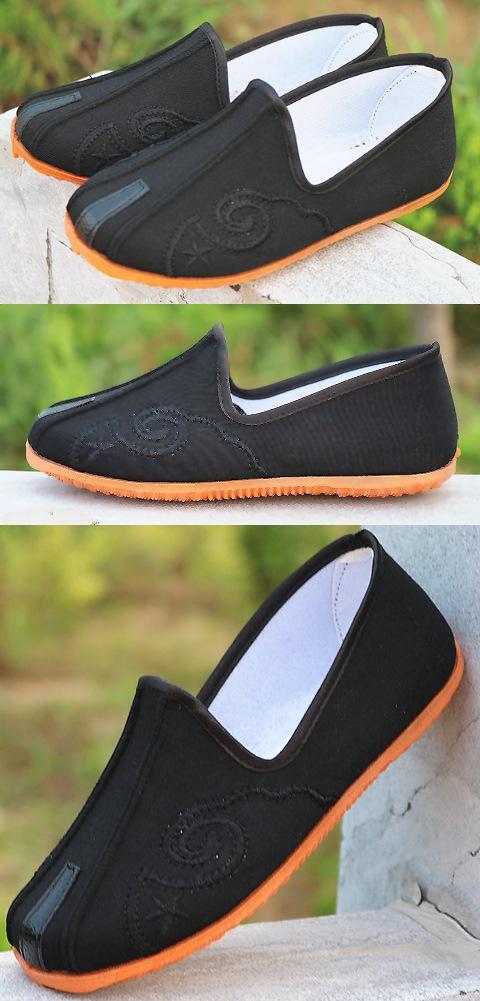 Boy's Double Girder Cloth Shoes w/ Cloud Hook Patterns