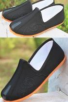男童雲勾圖案雙樑布鞋
