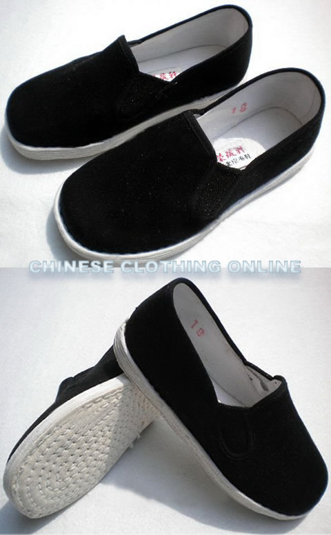 Boy's Square Opening Cloth Shoes