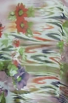 Fabric - See-through Floral Chiffon