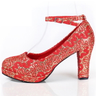 High Heel Lace Vamp Trap Shoes