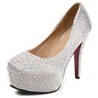 高跟人造水晶鞋