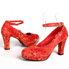 High Heel Calabash Knot Shoes