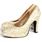 High Heel Lace Vamp Shoes