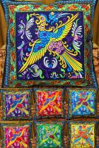 Chinese Ethnic Phoenix Embroidery Cushion Cover