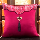 Chinese Ethnic Embroidery Tassel Cushion Cover