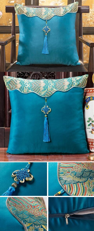 中國風情刺繡流蘇墊子套