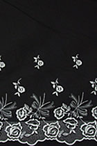 Fabric - Embroidery Cotton (Black)