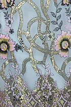 Fabric - See-through Embroidery Gauze w/ Paillettes (White)