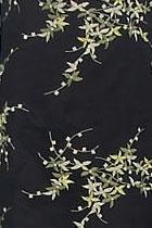 面料 - 透視繡花網紗(黑色)