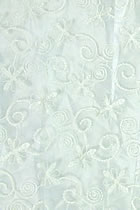 Fabric - See-through Embroidery Gauze (White)