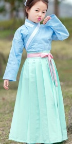 Girl's Han Dynasty Cotton Linen Folkwear Hanfu (RM)