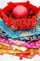 Brocade Foldable Fruit / Storage / Snack Basket