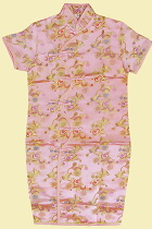 Bargain - Girl's Morning Glory Cheongsam Dress (Pink)