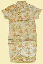 Bargain - Girl's Morning Glory Cheongsam Dress (Gold)
